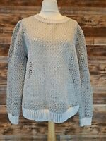 Cos Women's Knitted Grey & White Pullover Jumper Size Large