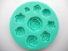 9 AGUJEROS ROSA Molde de silicona decoración tartas Flor CHOCOLATE Horneado Boda