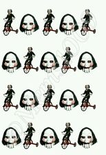 Jigsaw Nail art (water decals) Saw movie nail decals horror film nail decals