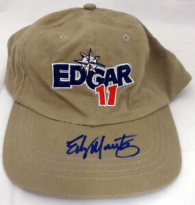 Edgar Martinez Autographed Signed Hat Seattle Mariners MCS Holo #51228