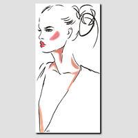 ORIGINAL Acryl Gemälde Modern HANDGEMALT Malerei Abstrakt Art Frau Bild Leinwand