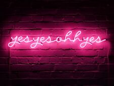 "New Yes Yes Ohh Yes Artwork Real Glass Acrylic Neon Light Sign 24""x5"""