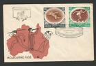 1956 Pologne timbre sur lettre Jeux Olympiques Melbourne /L1081