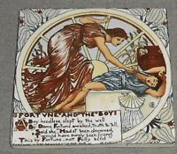 American Encaustic Tile/Trivet FORTUNE AND THE BOY Zanesville, Ohio USA