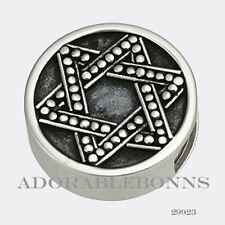 Authentic Lori Bonn Silver Star of David Bonn Bons Slide Charm  29923