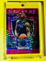 Zion Williamson ATOMIC PINK PULSAR REFRACTOR ROOKIE PANINI PRIZM CRUSADE RC Mint