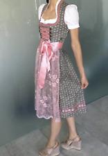 Original MARJO Trachten Dirndl - KRÜGER Bluse rosé/grau, Gr. 32(34) - TOP, NEU!!