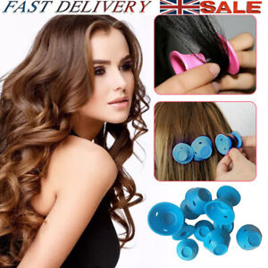 10/20/30 Magic Rollers DIY Silicone Hair Curlers Styling Care No Clip No Heat UK