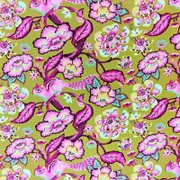 WE154 Tula Pink Chipmunk Woods Spring Animal Cute Floral Cotton Quilt Fabric