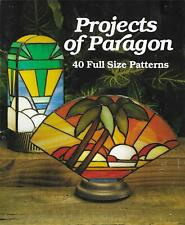 Projects of Paragon Lamp Shade Stained Glass Book - 40 Full Size Patterns