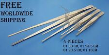 Debakey Atraumatic Vascular Tissue Forceps Set of 4 Pieces Medical Surgical Inst