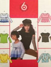 McCalls Sewing Pattern 4909  Childrens Girls Tops Size 7-12 Uncut