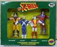 X-MEN BENDIES Complete SET 6 Marvel GIG Italy ONLY MOC MIB 1991 RARE Box Set 4