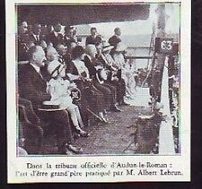 1932  --  AUDUN LE ROMAN   LEBRUN TRIBUNE OFFICIELLE
