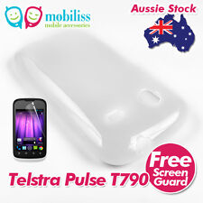 2 X Clear TPU Gel Jelly Case Cover Skin Screen Protector Telstra Pulse ZTE T790