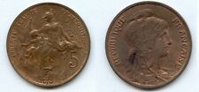 **gertbrolen 5 Centimes bronze Type Dupuis  1913