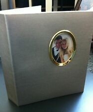 """SILVER Photo Album  2up 5""""X7"""" Holds 200 Photos double sides"""