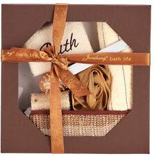 8 Piece Bathroom Pamper Spa Gift Set Foot Exfoliator Pumice Stone Bath Sponge
