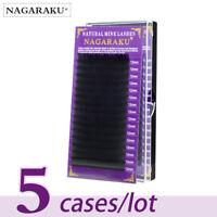 NAGARAKU 5 cases/lot High quality mink eyelash extension individual eyelashes