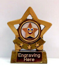 Star Trophy Award with FREE Engraving + FREE P&P