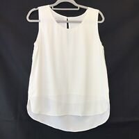 Hobbs Cream Short Sleeve Sleeveless Scoop Neck Blouse UK Size 10