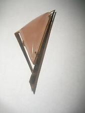 "Vintage Beautiful large 3.5"" Modernist 9k Gold pink Quartz brooch pin pendant"