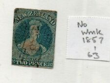 A very nice imperf New Zealand 1857-63 No Wmk 2d Blue Chalon