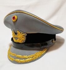 Modern German Army General Admiral Officer Visor Crusher hat cap schirmmutze