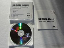 ELTON JOHN Songs From The West Coast RARE GERMANY collectors acetate CD