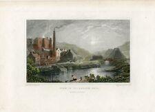 «View in Coldbrook Vale» Monmouthshire grabado por H.W. Bond sobre obra de H. Ga
