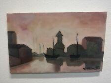 Olio su tela Teresa Terry Chiaretto 40 x 25 cm firmato quadro Venezia