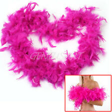 2M Fluffy Feather Boa Strip Fancy Makeup Party Wedding Xmas Decoration Rose Red