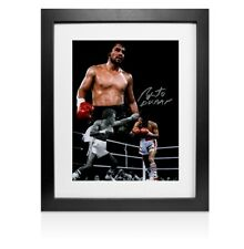 More details for framed roberto duran signed photo - boxing legend autograph