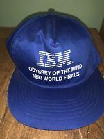 Vintage IBM Snapback Hat Odyssey of the Mind 1983 World Finals Black