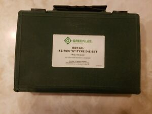 "Greenlee KD12AL 12 Ton ""U"" type Crimp Crimper Die Set"