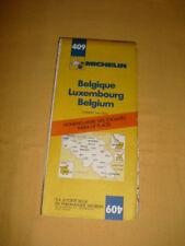 MICHELIN Carte Routière N°409 Belgique Luxembourg 1979