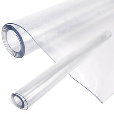 2mm Transparent PVC Clean Wipe Tablecloth Vinyl Protector Waterproof Oil-proof