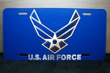 AIR FORCE NOVELTY METAL ALUMINUM CAR LICENSE PLATE TAG SIGN US AIR FORCE