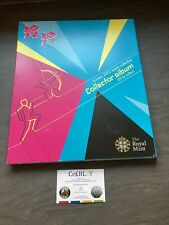 LONDON 2012 OLYMPIC GAMES 50p SPORTS COLLECTOR ALBUM IN OK USED CONDITION.