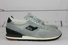 Bally Men's Gray Black Size 8.5 Suede Shoes Sneakers