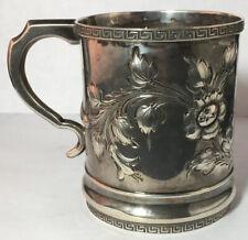R & W Wilson Large Coin Silver Mug / Cup Philadelphia 1825-1850 Wayne Family
