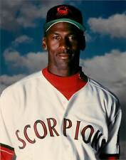 Photo Baseball Color 8x10 Scottsdale Scorpions Michael Jordan Portrait HOF