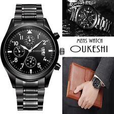 Montre Pour Homme OUKESHI Classique Avec Date Bracelet en Stainless quartz