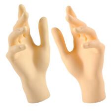 Pack of 2 Female Mannequin Jewelry Hand Display Stand Plastic Skin Color