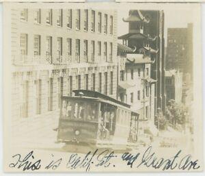 1920s San Francisco Streetcar Cable Car Photo Presidio Avenue California Market