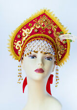 Russian traditional hat, Kokoshnik, Russian crown, Russian headdress, headwear