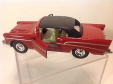 NIP Welly Chevrolet 1957 Bel Air NO.9013 Red with Black Top Pull Back Car
