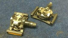 USED SHIMANO PD-M505 SPD PEDALS WITH FLATFOOT INSERTS EXCELLENT CONDITION