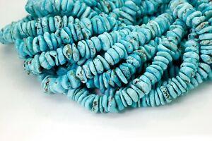 Genuine Arizona Natural Turquoise Flat FreeForm Disc Gemstone Beads - PGS296