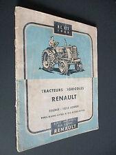 NOTICE D'ENTRETIEN N.E. 673 TRACTEURS AGRICOLES RENAULT 1955